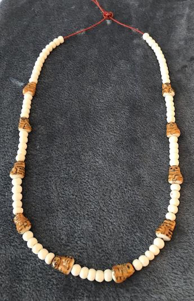Porcelain Cats Extra Long Necklace