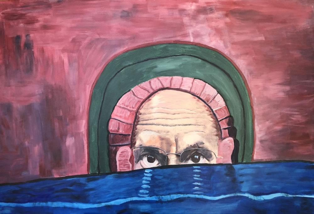 Self-portrait  la Munch