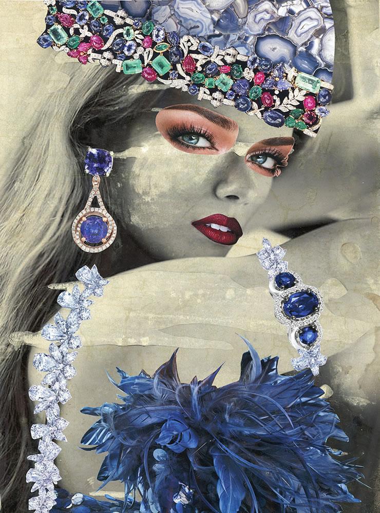 Blue Boa Babe