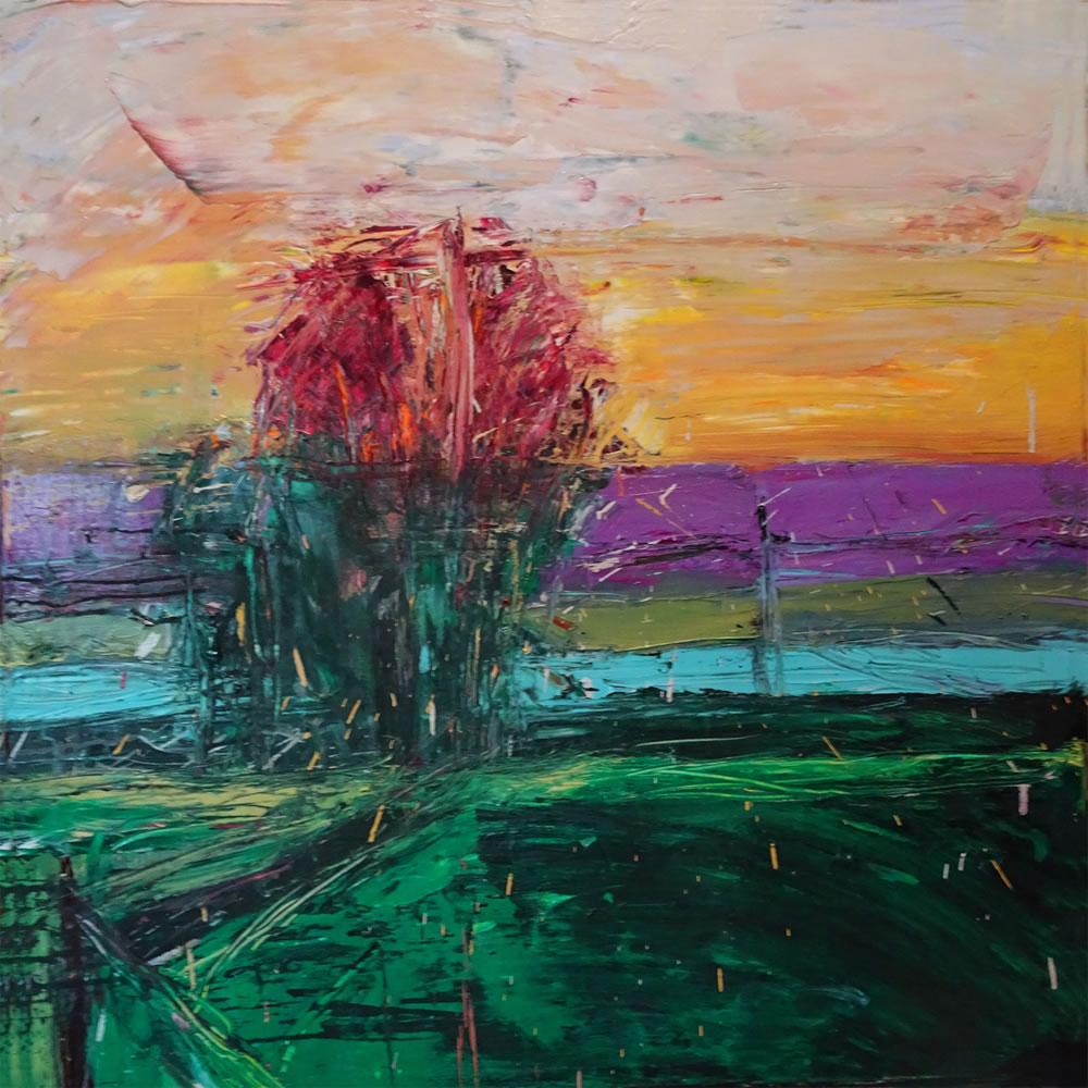 Sunset Red Tree
