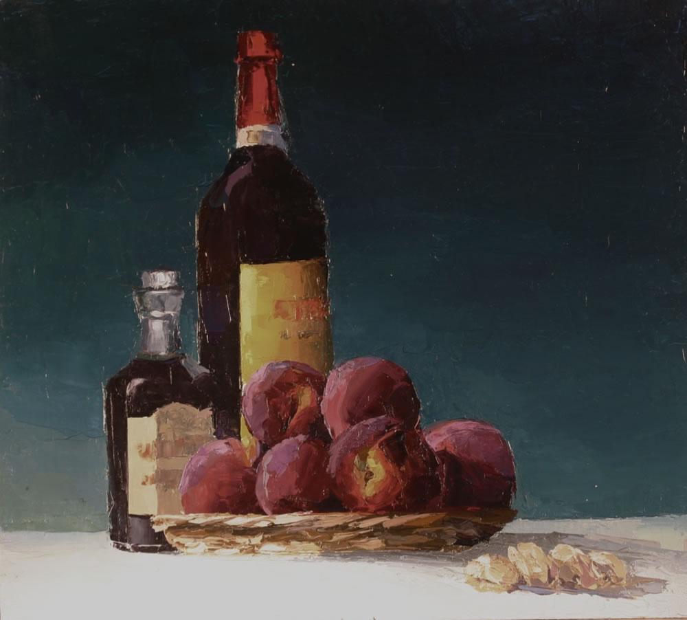 White Peaches in Red wine for Dessert