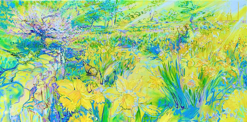 Weir Farm Daffodils Series Monarch and Blue Jay