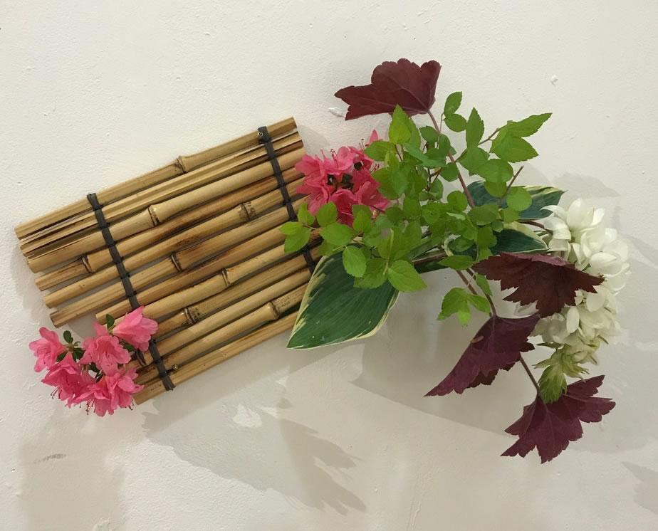 Bamboo Spring - Ikebana Wall Arrangement
