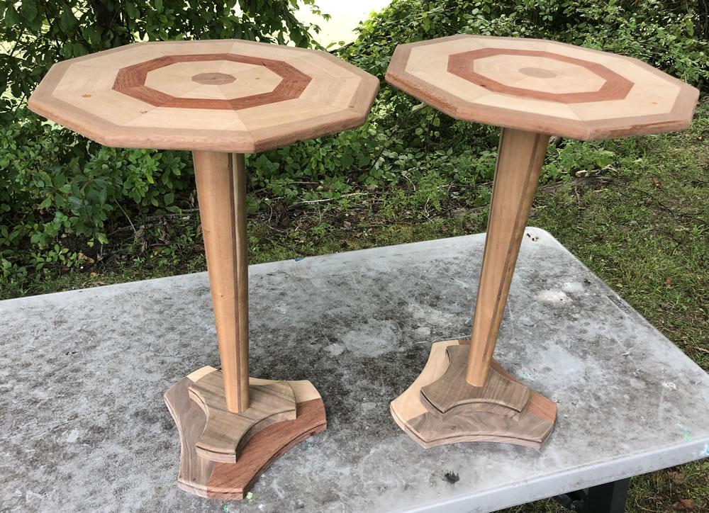Two Nonagon Pedestal Tables