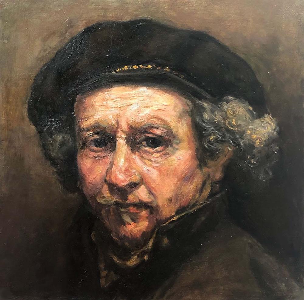 Copy of Rembrandt Self Portrait 1659